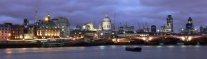 View of St Paul's Cathedral and Thames by night 2